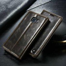 Luxury High Quality Leather Magnetic Auto Flip Wallet Stand Phone Case For Samsung Galaxy A9 2016 A9000 A9 Pro 6.0″ Case Cover