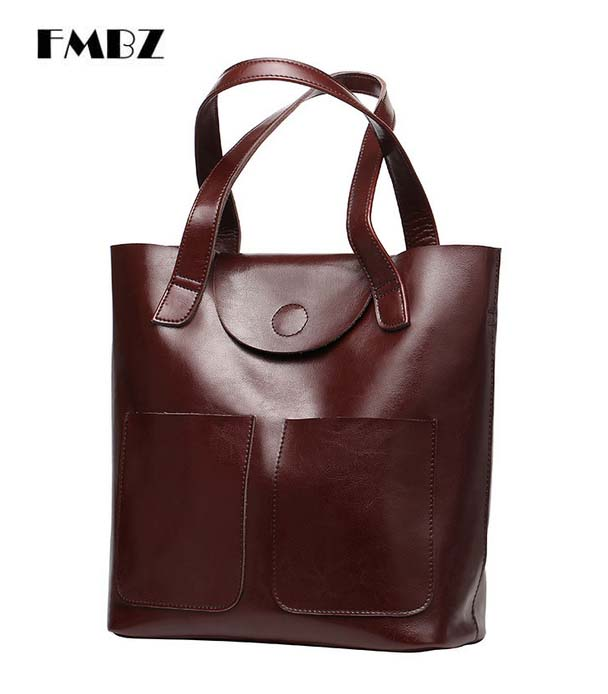 Leather women bag 2018FMBZ new fashion oil wax leather handbag bag casual shoulder bag free shipping safebet brand 2018 new fashion cool style real leather handbag wholesale oil wax leather slanting shoulder bag women s handbag