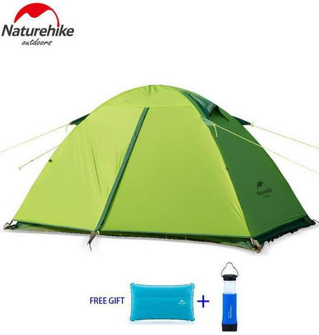 NatureHike 1-2 Person Tent Waterproof tents Double Layer Outdoor Camping Hike Travel Tent Ultralight Camping Tents yingtouman outdoor 2 person waterproof double layer tent fiberglass rod portable ultralight camping hikingtents