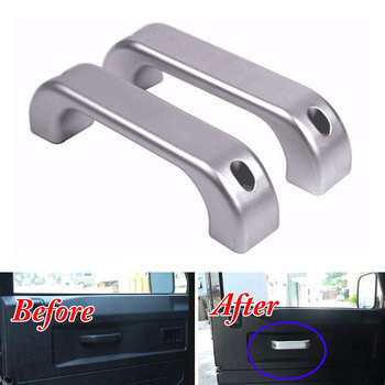 Fit for Land Rover Defender 2011-2016 Car Styling Car Interior covers Door Grab Aluminum Handle decorate trim Car accessories
