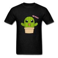 Najnowszy Kaktus Upraw Wzór Nie przytulić Przytulić funny kawaii t koszula Mężczyzna kreskówka Mężczyzna funny T-Shirt crop