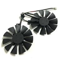 2pcs VGA Gpu Cooler GTX 1070 1060 RX 570 Graphics Card Fan For Dual GTX1060 GTX1070