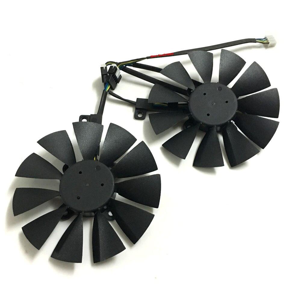 2 unids VGA gpu mejor GTX 1070/1060 ventilador de la tarjeta gráfica para asus dual GTX1060 GTX1070 tarjetas de vídeo de refrigeración