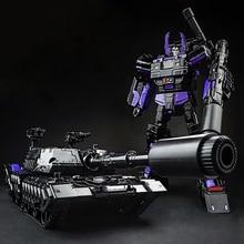 Bei Fen Oscuro Edición Transformación Automóvil Tanque Robot Modelo Grande 29 CM De Plástico Y de Aleación de Regalo de Los Niños Brinquedos Technologica