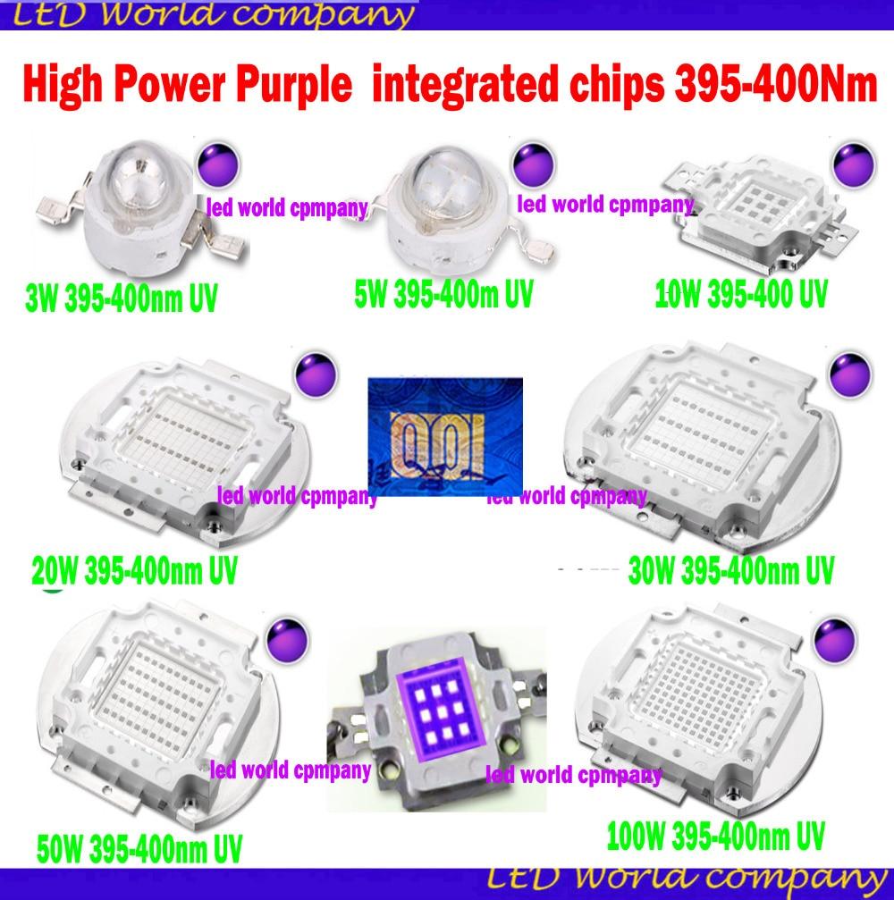 HOT //// 5pcs 10W violet 420-430nm UV Led Blub for Aquarium