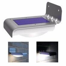 Sensor powered энергосберегающие motion наружного солнечный настенный панель светильник сад безопасности