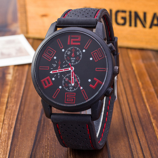 2018 New famous brand Luxury Men Outdoor Military watch Silicone Band horloges m
