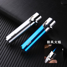 Boutique cylinder metal Windproof Jet Butane Torch Turbo Straight Cigarette cigar pipe Inflatable gas Lighter Accessories