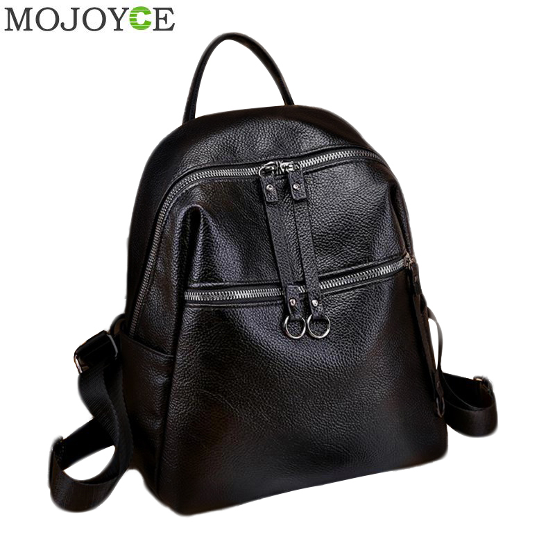 Fashion Women Backpacks Soft PU Leather Backpack Shoulder Daypack Female Rucksack Mochilas Mujer Casual School Bag For Girls