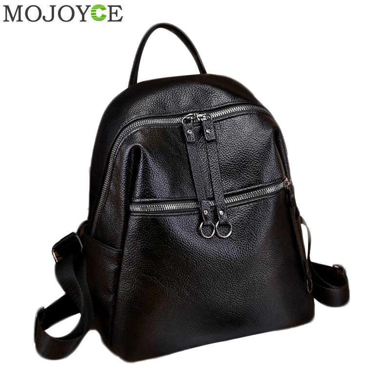 844430d657 Fashion Women Backpacks Soft PU Leather Backpack Shoulder Daypack Female  Rucksack Mochilas Mujer Casual School Bag