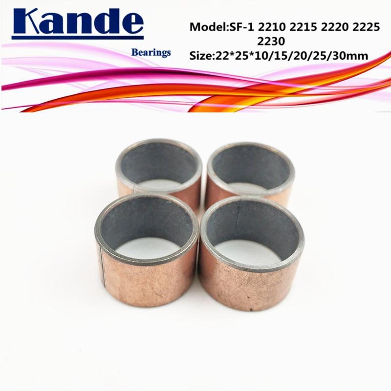 SF-1 2210 2215 2220 2225 2230  Self Lubricating Sleeve Size 22*25*10 15 20 25 30 35mm SF1