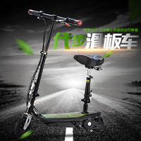 Inflatable Air Wheels Folding Bike Mini Electric Scooter Skateboard Bike For Child Adults Hot Sale Russian Free Shipping