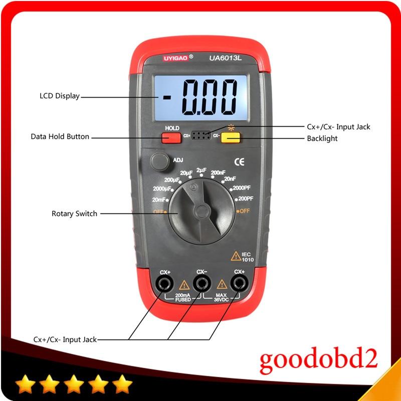 Professional Capacitance Meter UA6013L Auto Range Digital LCD Capacitor Test  Multimeter Measurement Tester Meter  цены