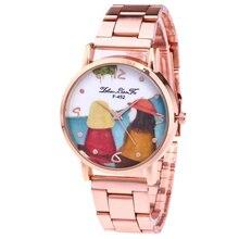Мода розовое золото Нержавеющаясталь группа пару узор Цифровой сплав Циферблат Для мужчин Роскошные Кварцевые часы 2018 наручные часы Для мужчин s N474