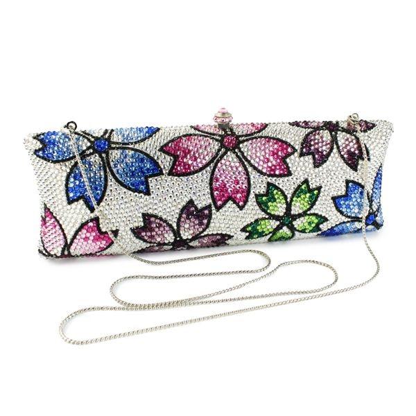 Beautiful flower clutch bag ladies paty evening bags (B1008-SHF) clutch adriana muti clutch