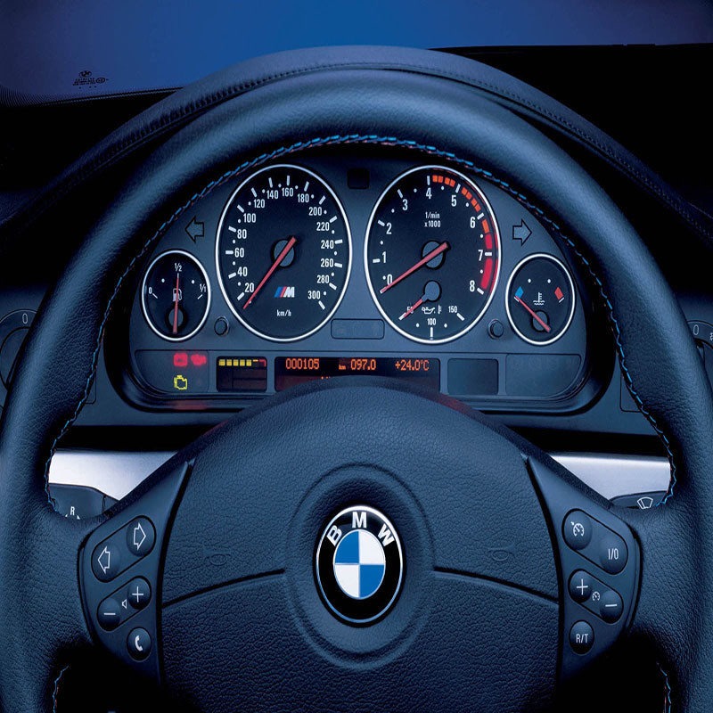 E38 E39 E53 Pearl Chrome Speedo Meter Decoration Ring M5 Matt chrome Gauge Trim Cluster Bezel Dashboard Dash Ring For BMW
