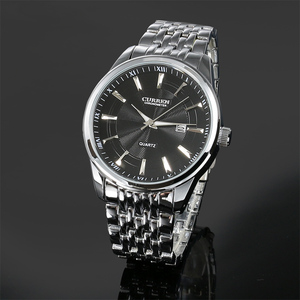 Image 4 - Montres hommes haut de gamme de luxe Curren hommes en acier inoxydable analogique Date Quartz montre décontractée montres bracelets Relogio Masculino
