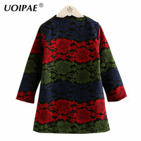 Kids Dress Girls 2017 New Winter Fashion Colorful Lace Dress For Girl Kids Long Sleeve Plus