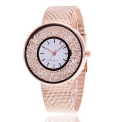 Нержавеющаясталь розовое золото часы кварцевые часы наручные часы Роскошные Для женщин со стразами Relogio Feminino Горячая Мода подарок часы