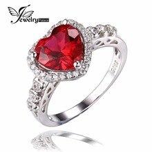 Создания обещание рубин halo океана навсегда jewelrypalace сердце любовь стерлингового серебра