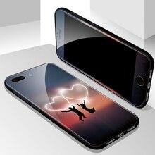 Чехол для телефона iPhone 8X7 6 6 S Plus Передняя пластина из закаленного стекла и роскошная задняя крышка из закаленного стекла Гибридный противоударный