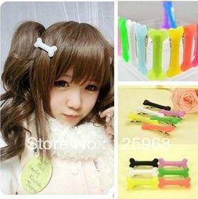 Free Shipping!New Arrive 100pcs/lot Halloween Dog Bone Hair Clip Hairclip Womens Hair Accessories