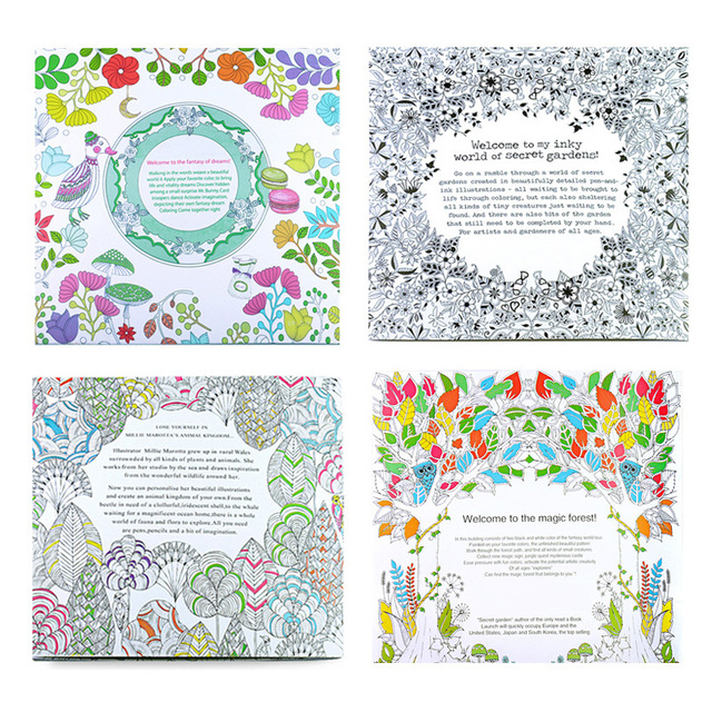 Wholesale 100pcs Secret Garden Coloring Book 24 Pages The Enchanted Forest Magical DreamsAnimal