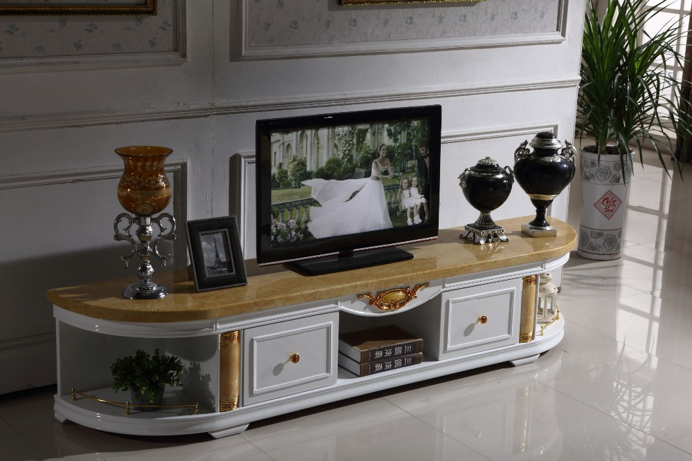 white wooden tv stand storage drawer marble top made in china living room furniture in tv stands. Black Bedroom Furniture Sets. Home Design Ideas