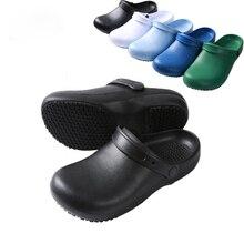 EVA di Alta Qualità Non antiscivolo Impermeabile a prova di Olio Da Cucina Scarpe Da Lavoro per Lo Chef Maestro Cuoco Ristorante Dellhotel Pantofole sandali piatti