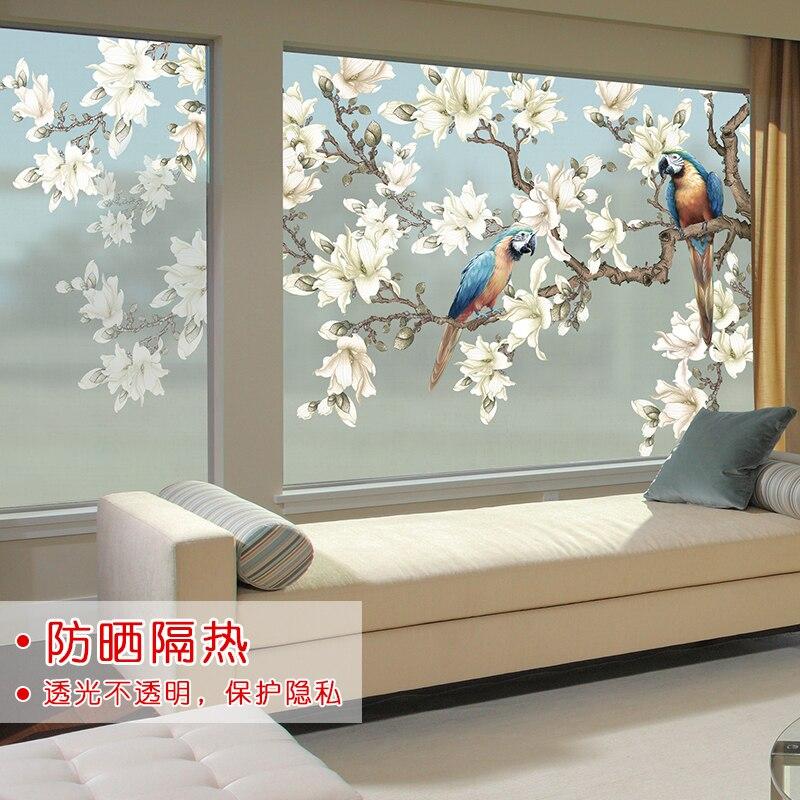 Vidrio esmerilado pegatinas papel ventana pegatinas transparente opaco película electrostática salón decoración dormitorio ventana