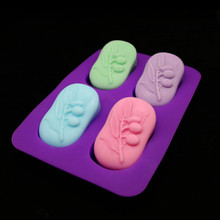 Oval Shape Soap Silicone mould 3d olive leaf essential oil soap making molds