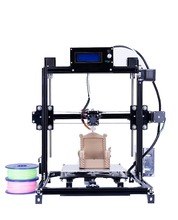 2017 el más nuevo Daul extrusora Flsun3D 3D Auto-levelingPrinter DIY Prusa I3 I3 Kit de Impresora 3D Cama Calentada Dos Rollos Filamento SD tarjeta