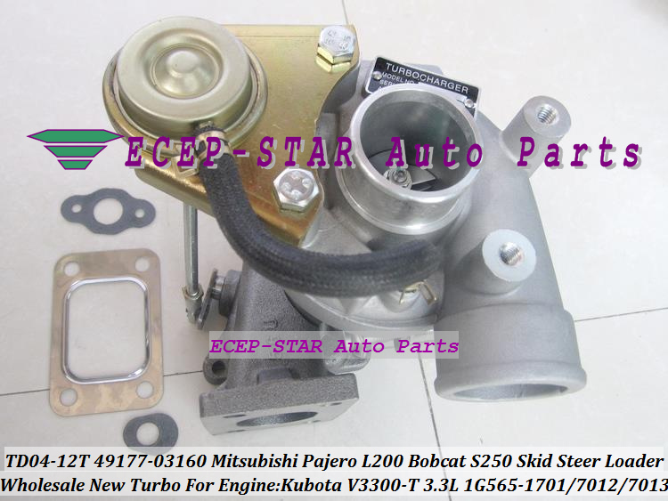 TD04-12T 49177-03160 1G565-1701 Turbo Turbocharger For Mitsubishi Pajero L200 Bobcat S250 Skid Steer Loader Kubota V3300-T 3.3L (5)