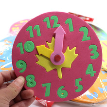 Subcluster 10 Pcs/Set Kids DIY Clock Learning Education Toy Jigsaw Puzzle Game for Children