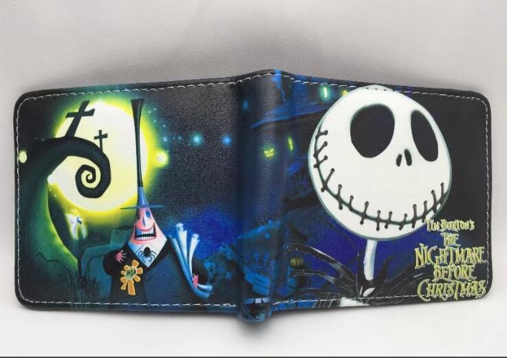 The Nightmare Before Christmas Jack Anime Wallets Mens Leather Pu Wallet Unisex Cartoon Purse Short Coin Wallet 2016 new arriving pu leather short wallet the price is right and grand theft auto new fashion anime cartoon purse cool billfold