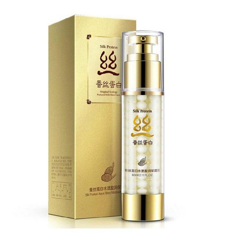 60g Face Care Silk Protein Lotion Cream Brand BIOAQUA Skin Care Deep Moisturizing Anti Wrinkle Oil-control Whitening Cream