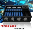 New Arrival Mining Frame Rig Graphics Case For 6/8GPU Aluminum Stackable Directed Plug and Play Mining Case For Ethereum BTC