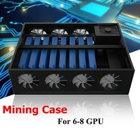 New Arrival Mining Frame Rig Graphics Case For 6 8GPU Aluminum Stackable Directed Plug And Play