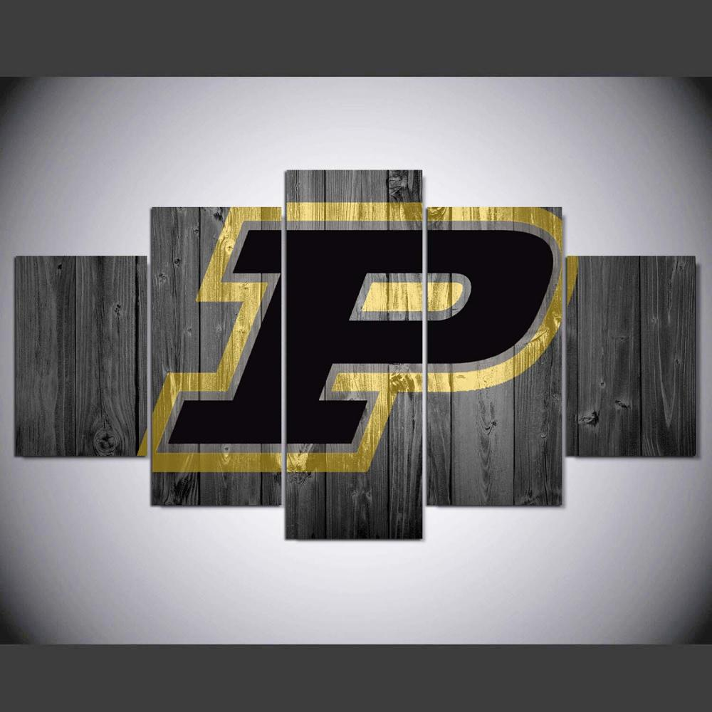 Color printing purdue - Drop Shipping Purdue University Boilermakers Logo Hd Printed Painting Canvas Print Room Decor Print Poster Picture