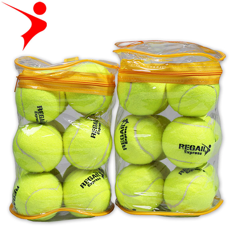 12 יח'\חבילה גמישות באיכות גבוהה כדור טניס אימון ספורט גומי צמר טניס כדורי טניס בפועל עם משלוח תיק