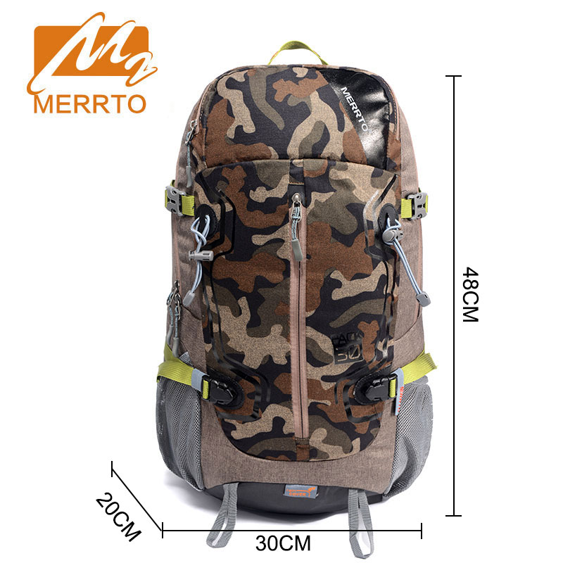 купить MERRTO Camping Hiking Backpack Sports Bag Travel Trekk Rucksack Mountain Climb Equipment 30L for Men Women Males Teengers по цене 4379.04 рублей