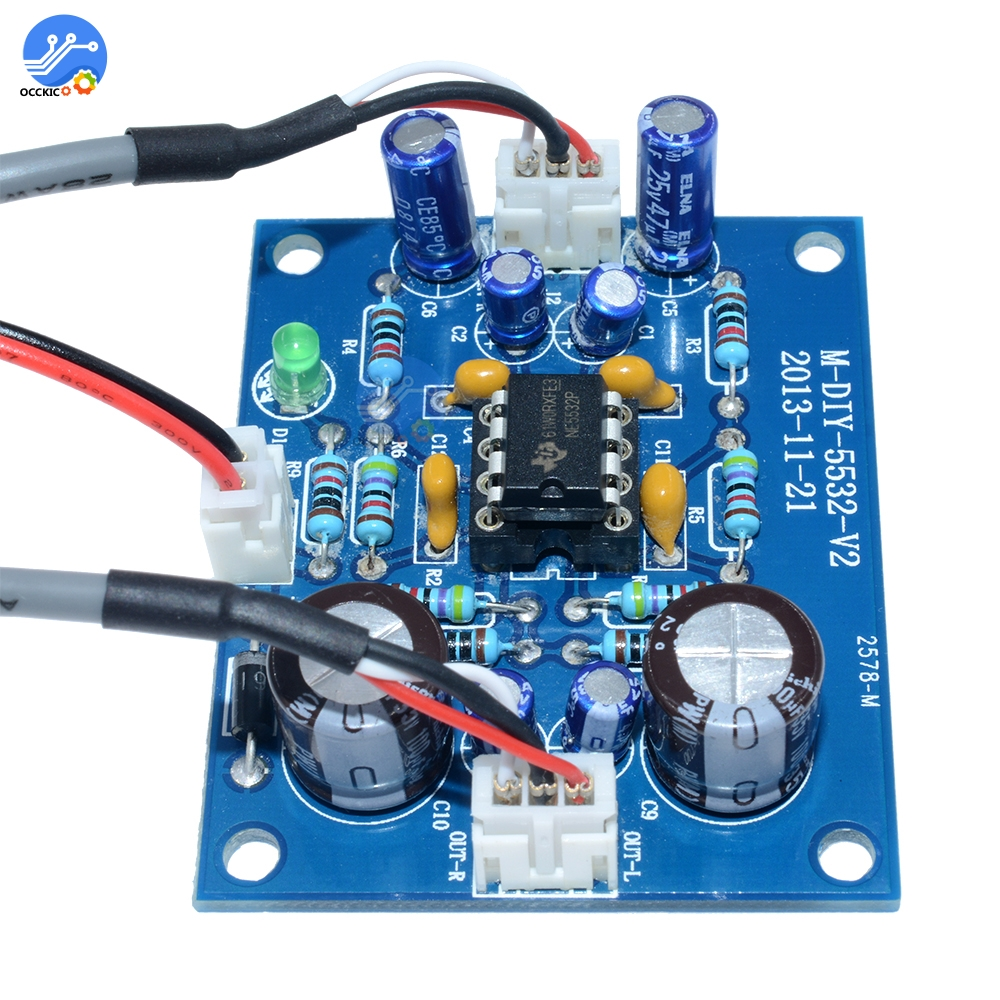 NE5532 OP-AMP Stereo Amplifier Board Audio HIFI Speaker Amplifier Module Control Board Circuit Sound Development For Arduino