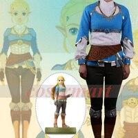 Hot Game Cosplay Breath of Wild Nature The Legend of Zelda Cosplay Suits Adult Women Dress t shirt Pants Halloween Party Prop