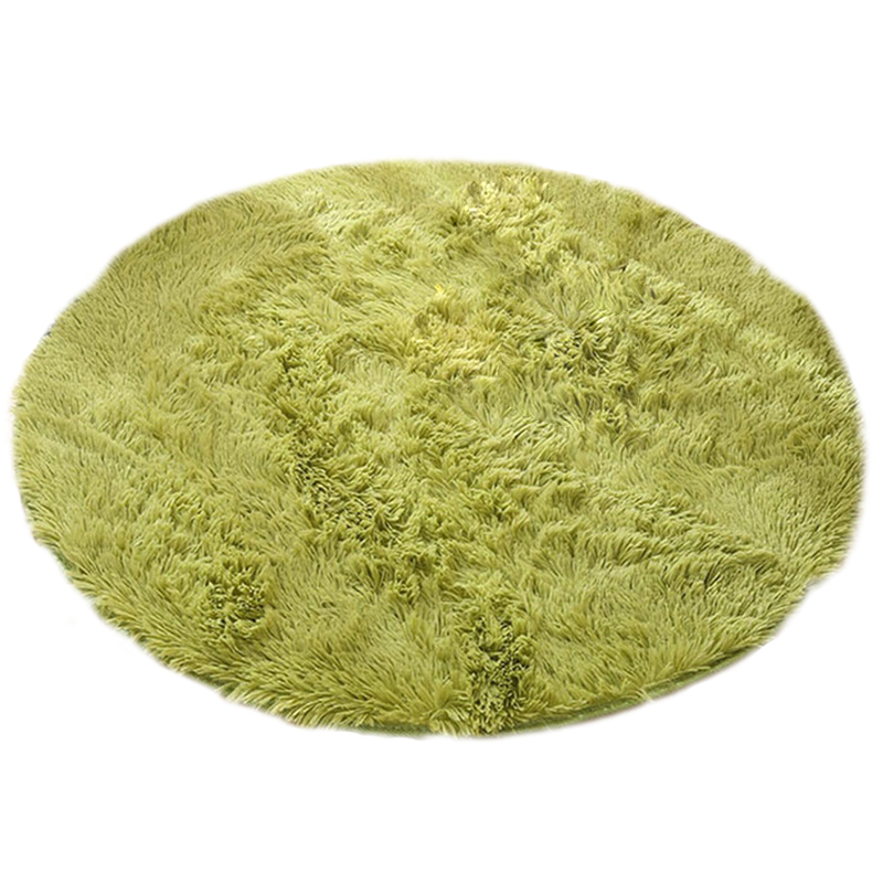 Charming SDFC Green 120x120cm Quality Floor Mats Modern Shaggy Round Rugs And  Carpets For Living Room Carpet