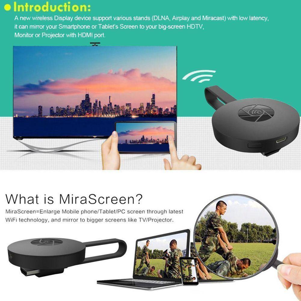 MOOL 1080P Wireless WiFi Display TV Dongle Receiver TV Stick Airplay Media Streamer Adapte