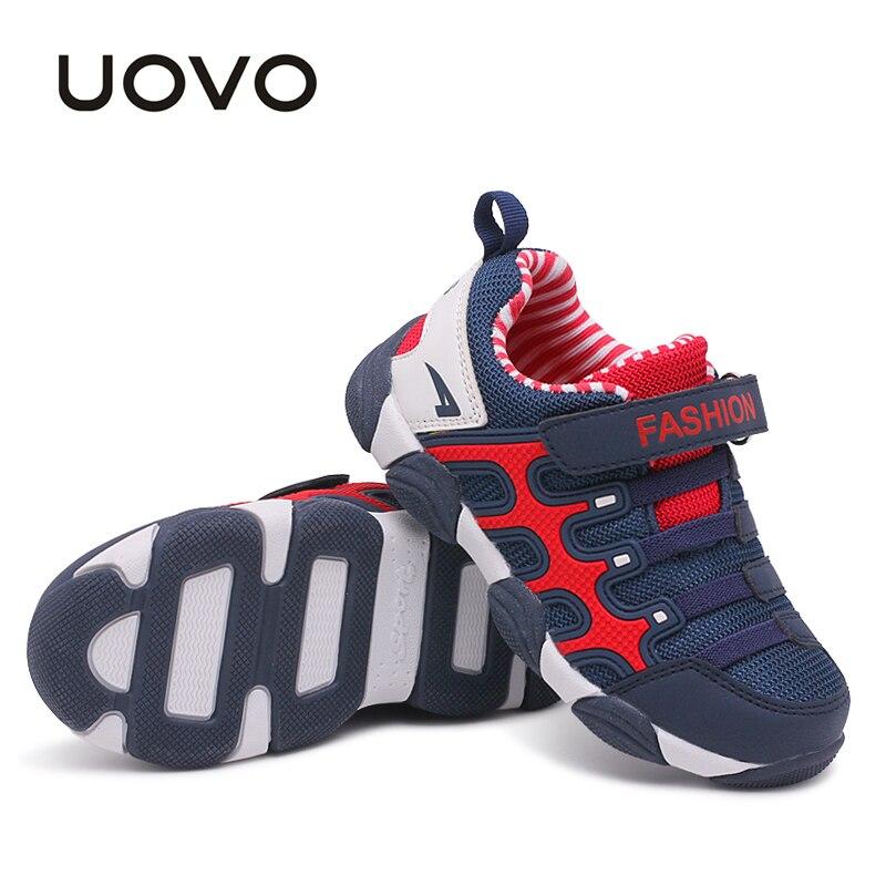 Обувь для детей для Обувь для мальчиков и девочек мягкая школа Кроссовки 2018 uovo Весна Детская обувь спортивная обувь Размеры #27-37