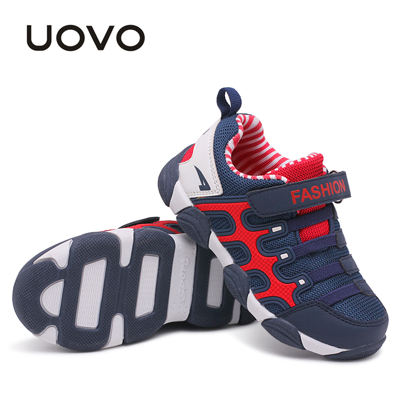 все цены на UOVO 2018 spring Kids Shoes Brand Sneakers colorful fashion casual children shoes for boys and girls rubber running sports shoes онлайн