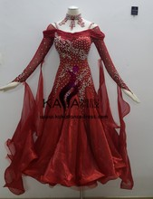 KAKA DANCE B1417,2014 New Dance Wear Ballroom Standard Dance Dress,Waltz Competition Dress,Women,Ballroom Dance Dress