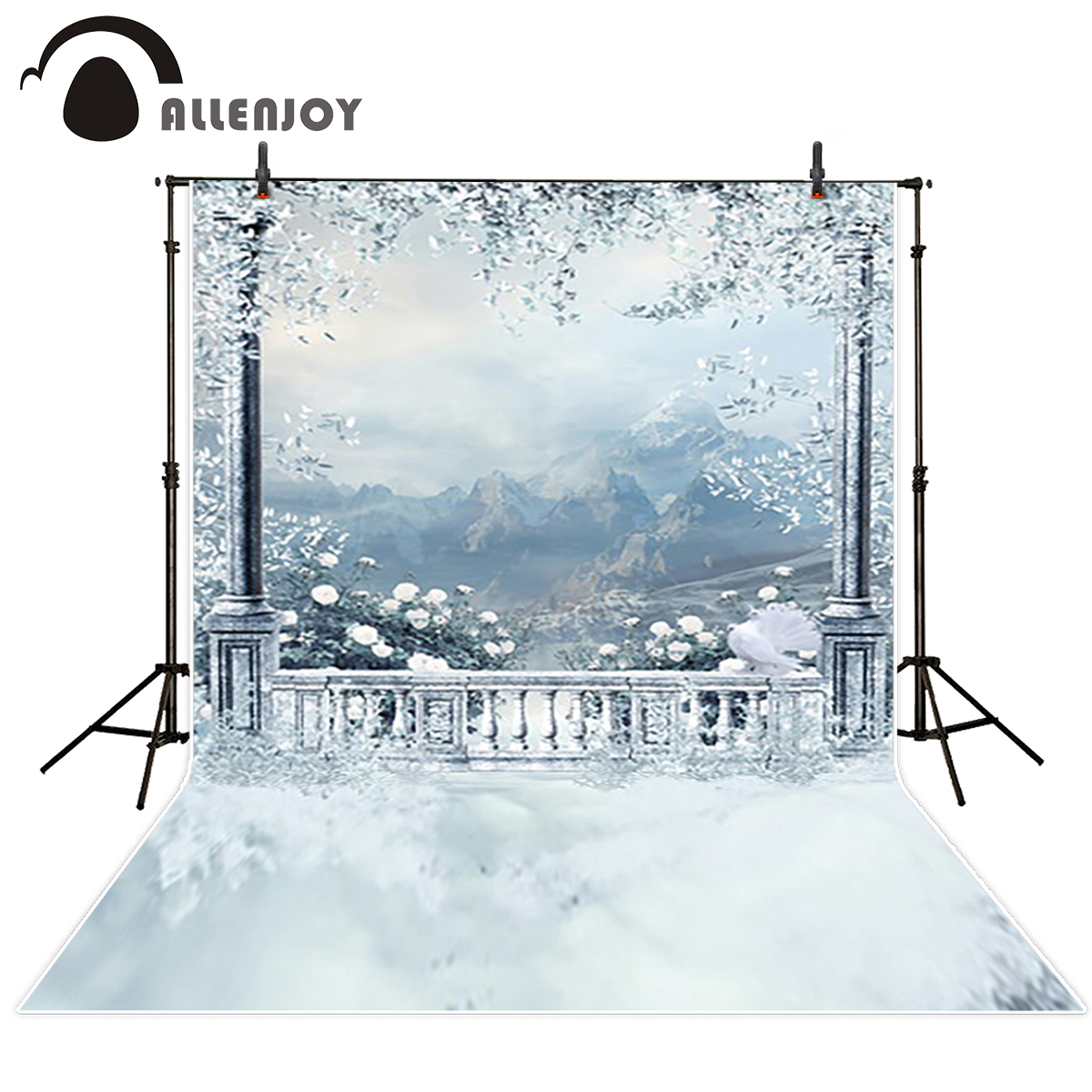 Allenjoy photo backdrops ice snow castle mountain winter background photocall photographic photo studio photobooth dunlop sp winter ice 02 205 65 r15 94t