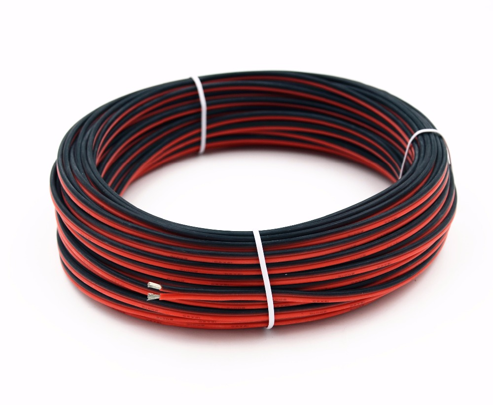 <font><b>20awg</b></font> Silicone Electrical Wire 10M Extension Cable Wire <font><b>2pin</b></font> Cord Cables Flexible Hook UP Strands Tinned Copper Wire image